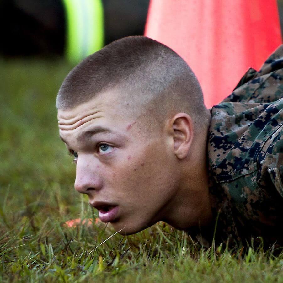 6. High and tight military haircut - Crew Cut for Miltary Haircut - Harptimes.com