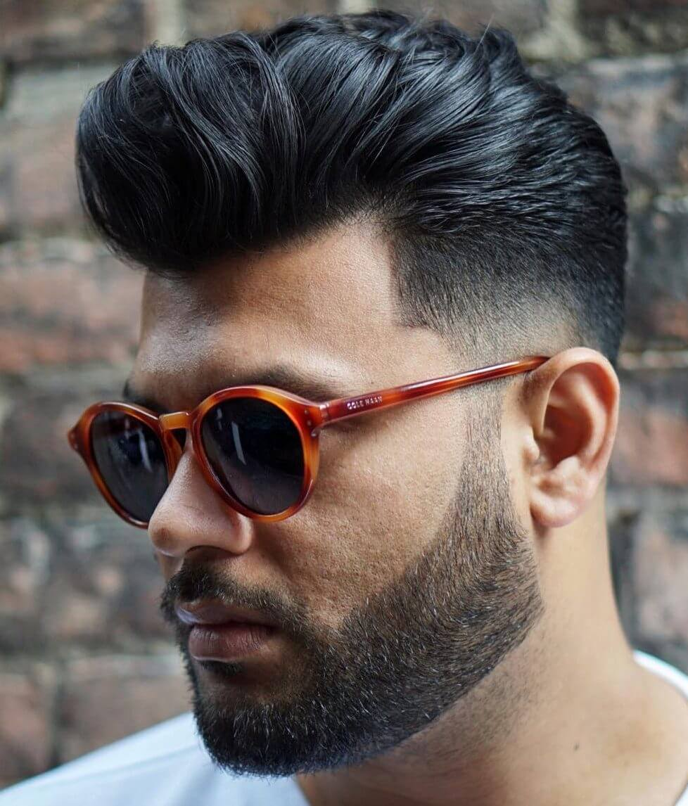Best Medium Length Hairstyles Men - Pompadour to Rock and Roll Hairstyle - Harptimes.com