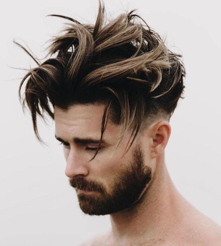 Top Medium Length Hairstyles Men Tousled Balayage Hair - Harptimes.com