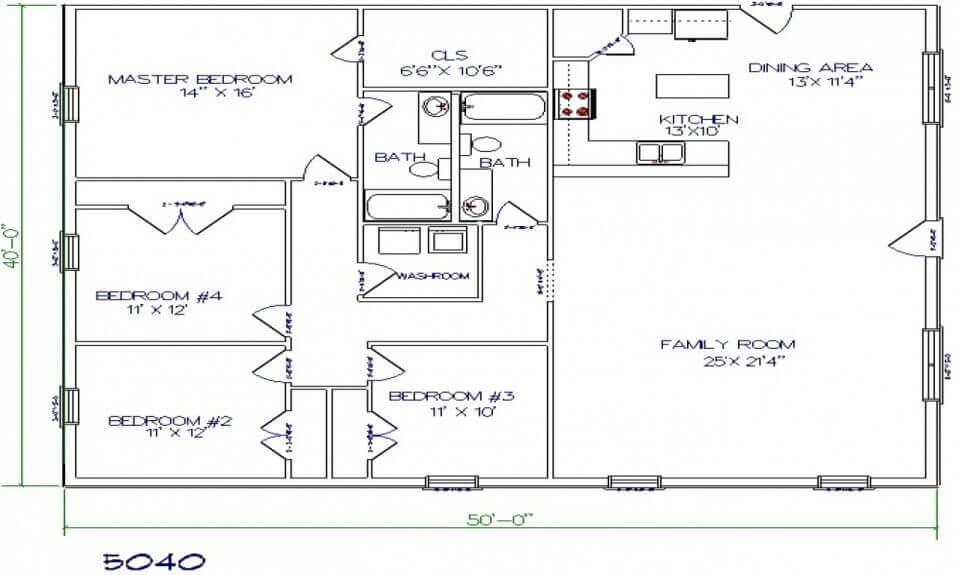 Barndominium Floor Plans - 10. Simple Yet Lovely Barndominium Floor Plan