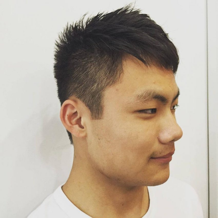 Asian Hairstyles Men Using Informal Spiky - Harptimes.com