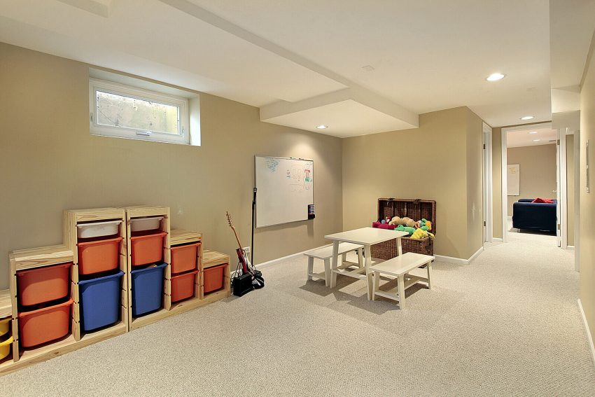 unfinished basement ceiling ideas - 4. Paint The Ceiling White - Harptimes.com