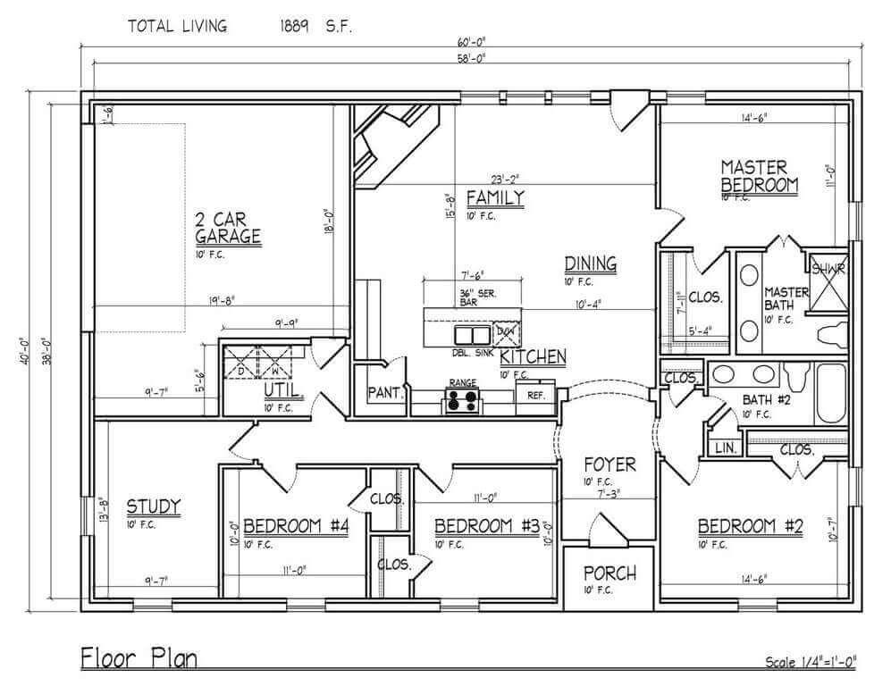Barndominium Floor Plans - 8. Modern Barndominium Floor Plans