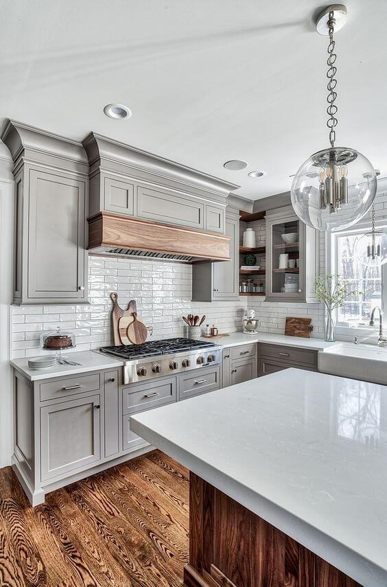 kitchen decor ideas modern - 13. Modern Classic Look of Kitchen - Harptimes.com