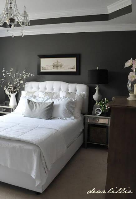 9. Dark Grey Painted in Master Bedroom Ideas - Harptimes.com