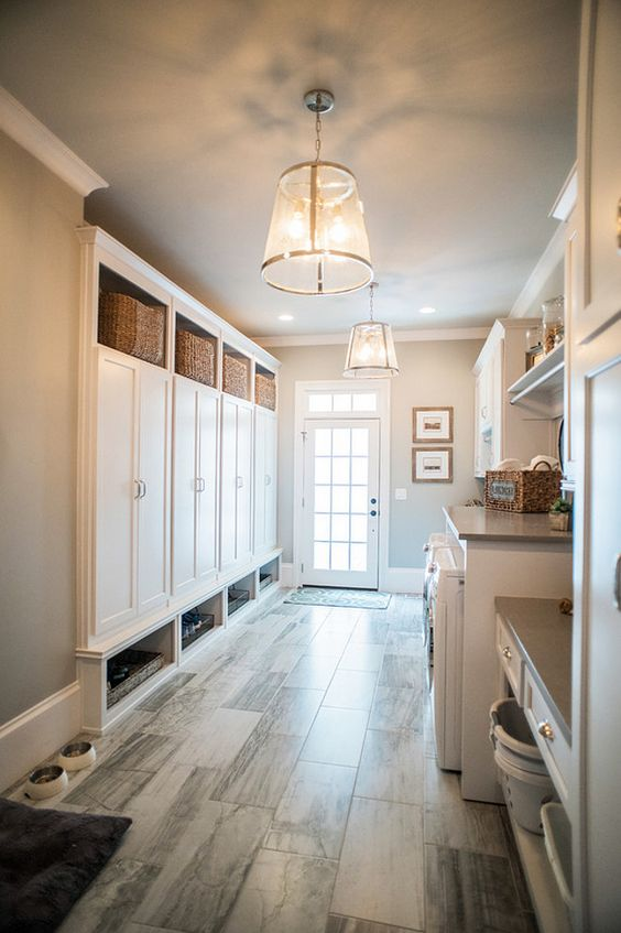 laundry mudroom ideas - 22. Mudroom for Laundry Room - Harptimes.com