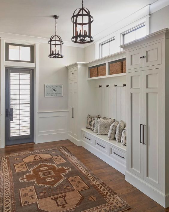 mudroom ideas closet - 25. Simple Mudroom Ideas with Cabinet - Harptimes.com