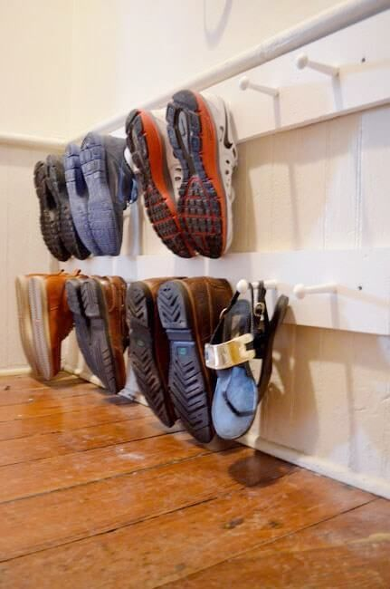 26. Clever Shoe Rack for Mudroom Ideas - Harptimes.com
