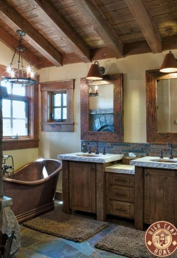 Barn Wood Interior for Small Rustic Bathroom Ideas - Harptimes.com