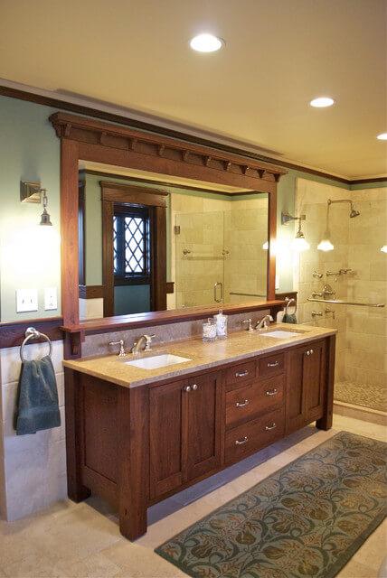 Bathroom Cabinet Ideas Craftsman Style Bathroom Cabinet - Harptimes.com