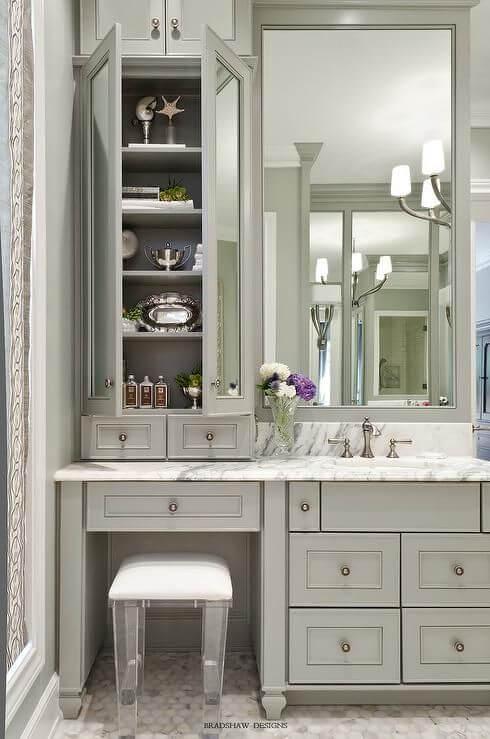 Bathroom Cabinet Ideas Gray Colonial Bathroom Cabinet - Harptimes.com