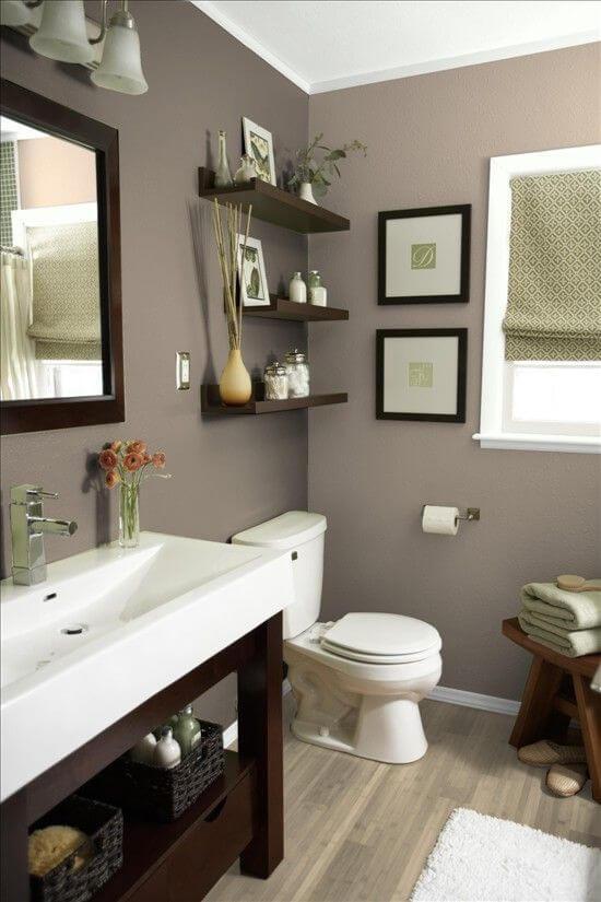 Bathroom Color Paint Ideas Beautiful Earthy Blue Bathroom Color - Harptimes.com