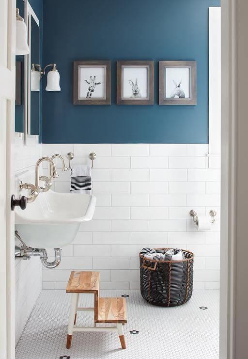 Bathroom Color Paint Ideas Bold Blue Color for White Bathroom - Harptimes.com