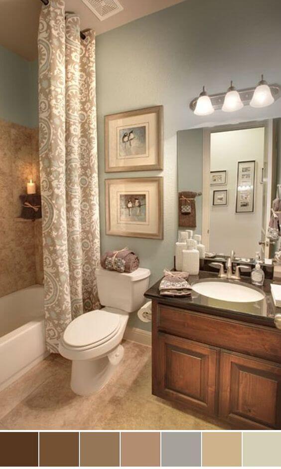 Bathroom Color Paint Ideas Classic Brown Bathroom Color Ideas - Harptimes.com
