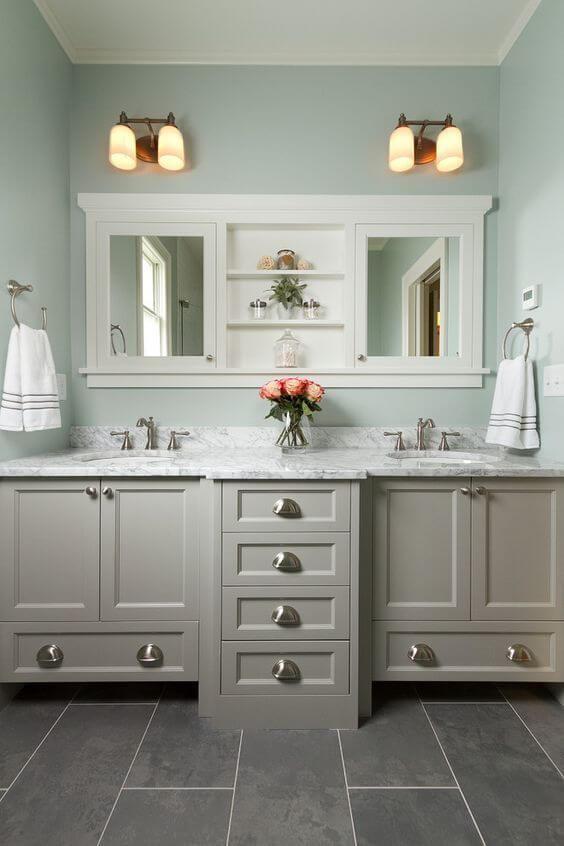Bathroom Color Paint Ideas Mint Green and Gray Bathroom - Harptimes.com