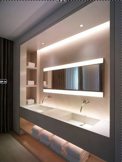 Bathroom Lighting Ideas Cove Light Effect for Bathroom - Harptimes.com