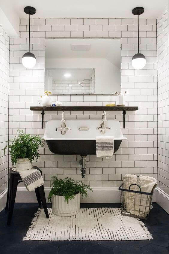Bathroom Lighting Ideas Outstanding Black and White Bathroom - Harptimes.com