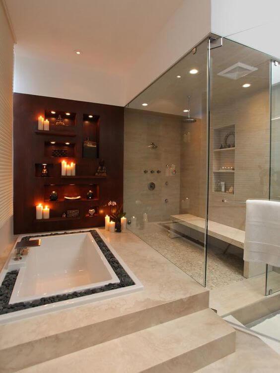 Bathroom Lighting Ideas Romantic Lighting for Bathroom - Harptimes.com