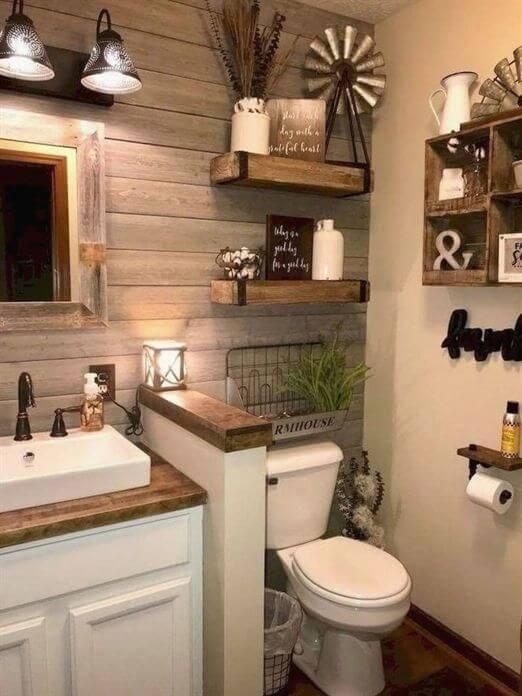 Bathroom Storage Ideas Rustic Farmhouse Decor - Harptimes.com