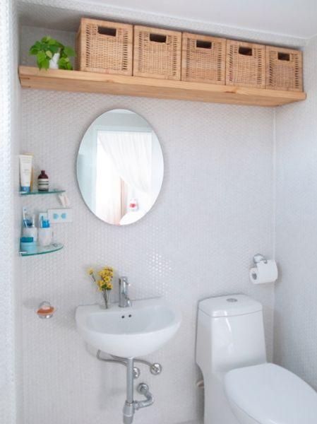 Bathroom Wall Decor Storage on Ceiling Level - Harptimes.com