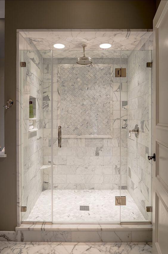 Beautiful Marble Shower Design Walk In Shower Tile Ideas - Harptimes.com