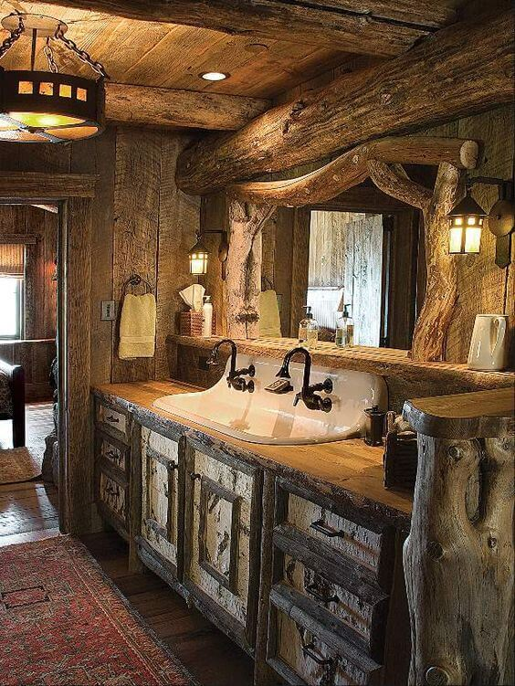 Country Western Rustic Bathroom Ideas - Harptimes.com