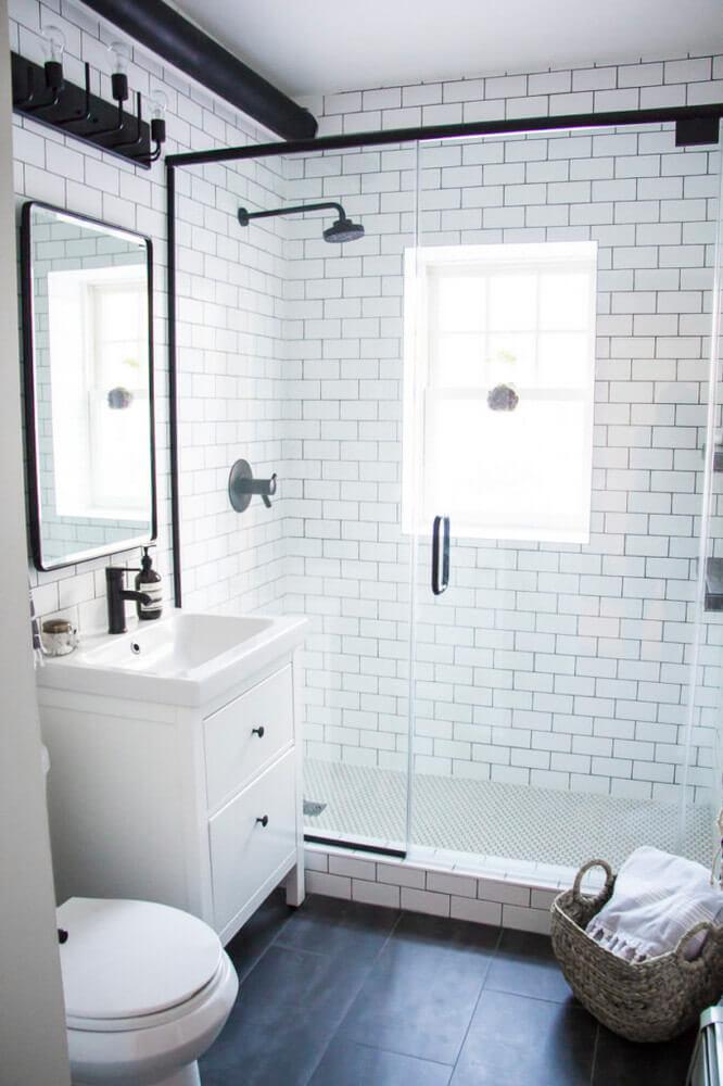 Guest Bathroom Ideas A Modern Meets Industrial Style - Harptimes.com