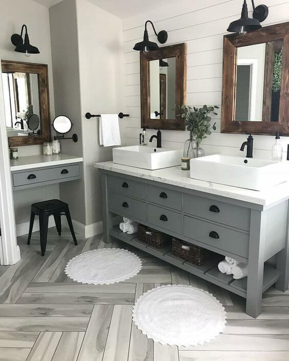 Industrial Farmhouse Master Bathroom Ideas - Harptimes.com