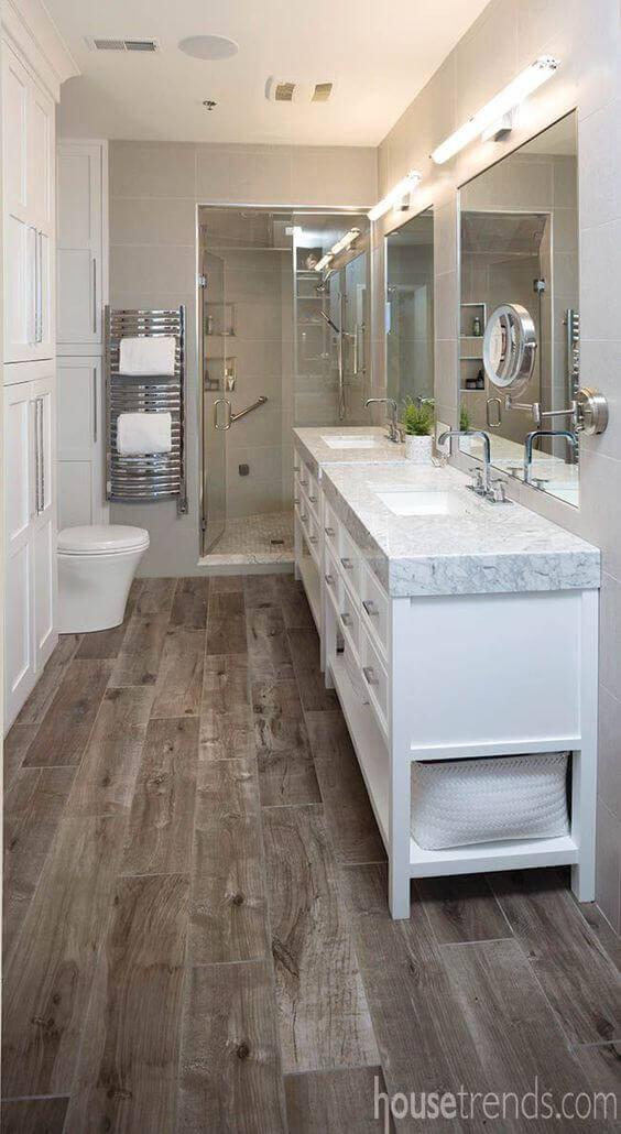 Master Bathroom Ideas Wood Board Flooring - Harptimes.com