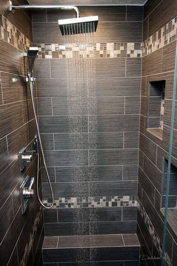 Pretty Accent Tile for Walk In Shower Tile Ideas - Harptimes.com