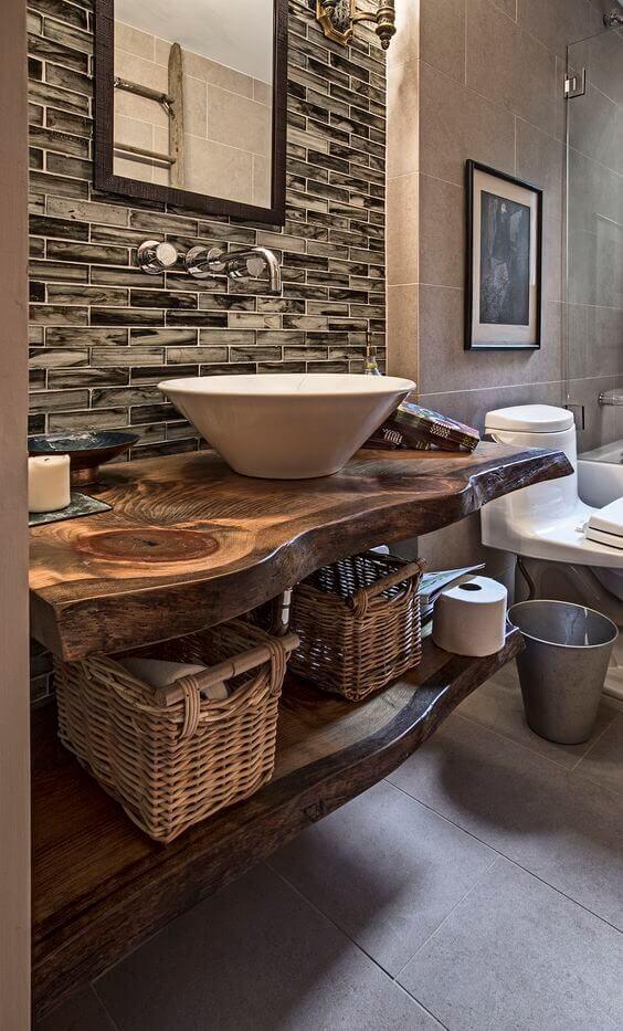 Reclaimed Wood for Modern Rustic Bathroom Ideas - Harptimes.com