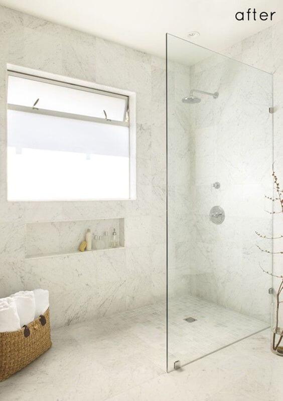 Seamlessly Blended Walk In Shower Tile Ideas - Harptimes.com