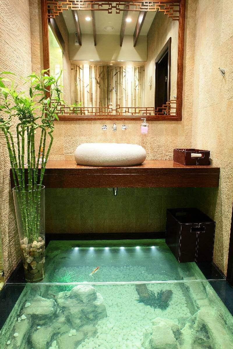 See-Through Master Bathroom Ideas Floor - Harptimes.com