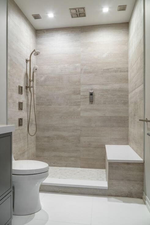 Walk In Shower Tile Ideas Luxury Shower Tile in a Clean White Bathroom - Harptimes.com