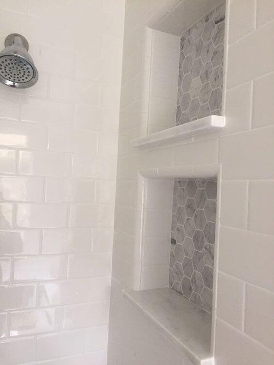 Walk In Shower Tile Ideas Marble Shower Niche Idea - Harptimes.com