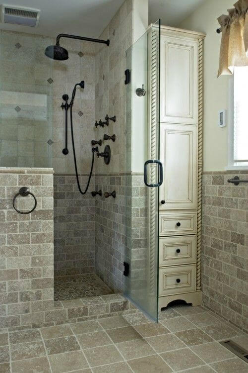 Walk In Shower Tile Ideas Warmer Tile with Industrial Vibe - Harptimes.com