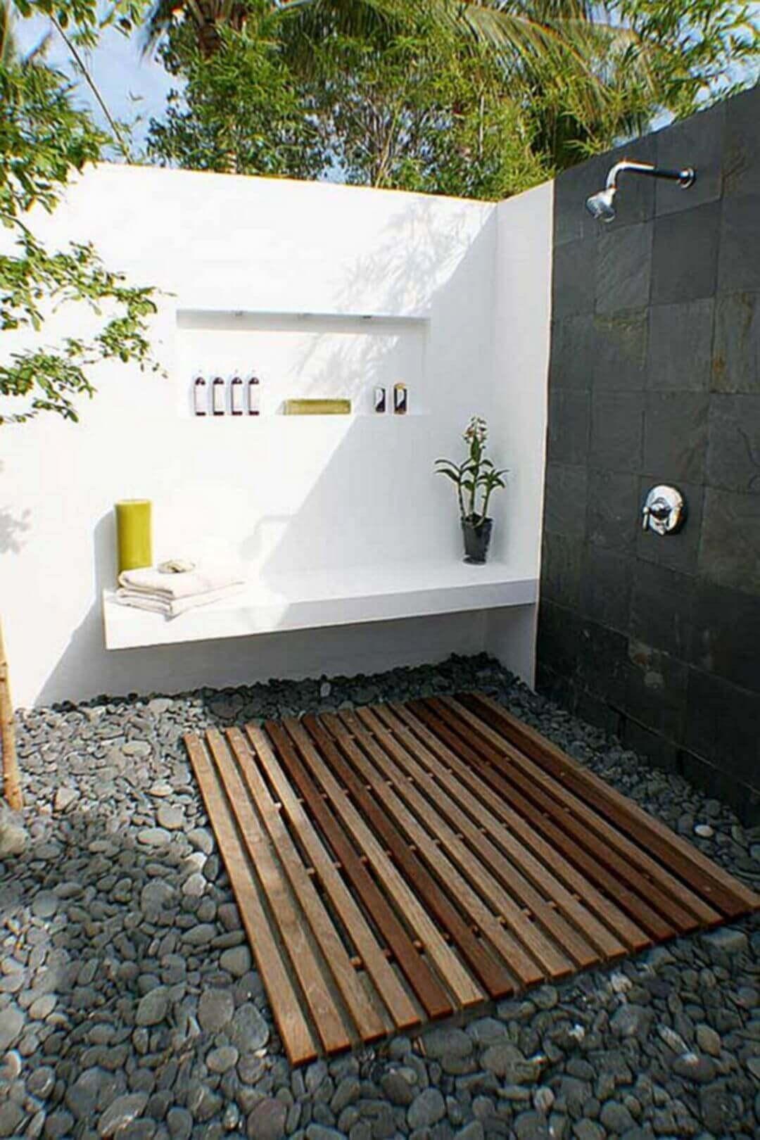 Outdoor Shower Design Ideas with Modern Approach - Harptimes.com