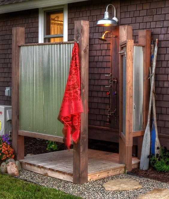 Outdoor Shower Ideas Cottage Style Outdoor Shower - Harptimes.com