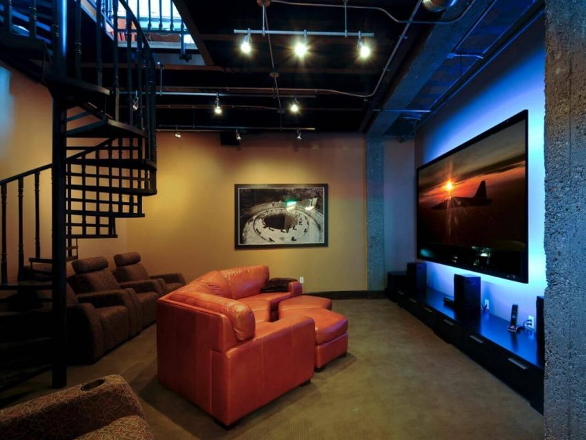 Basement Ideas with Urban Chic Style