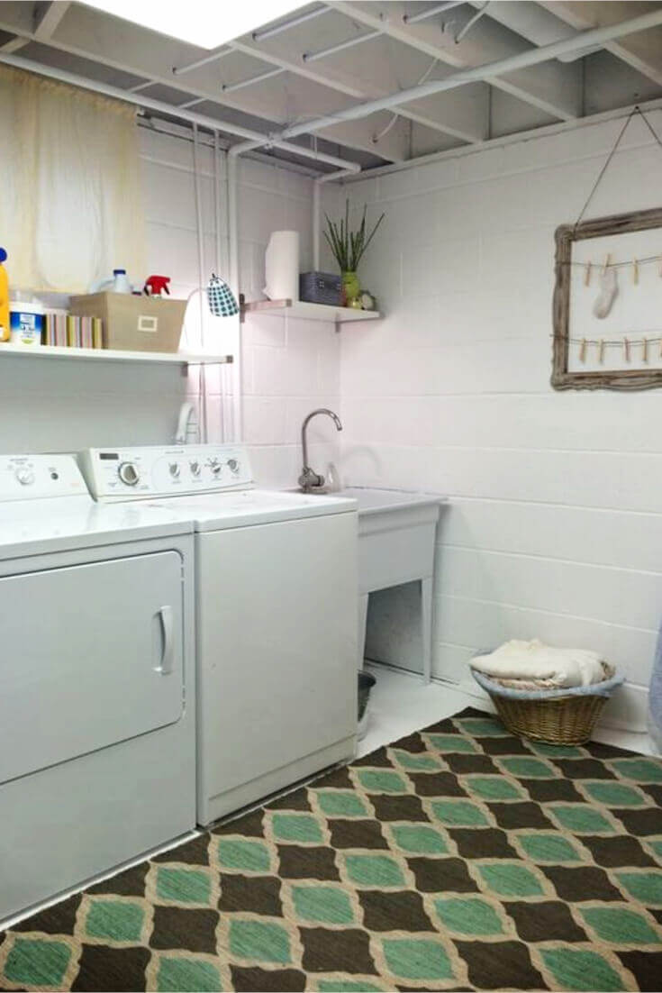 Basement Laundry Room Ideas