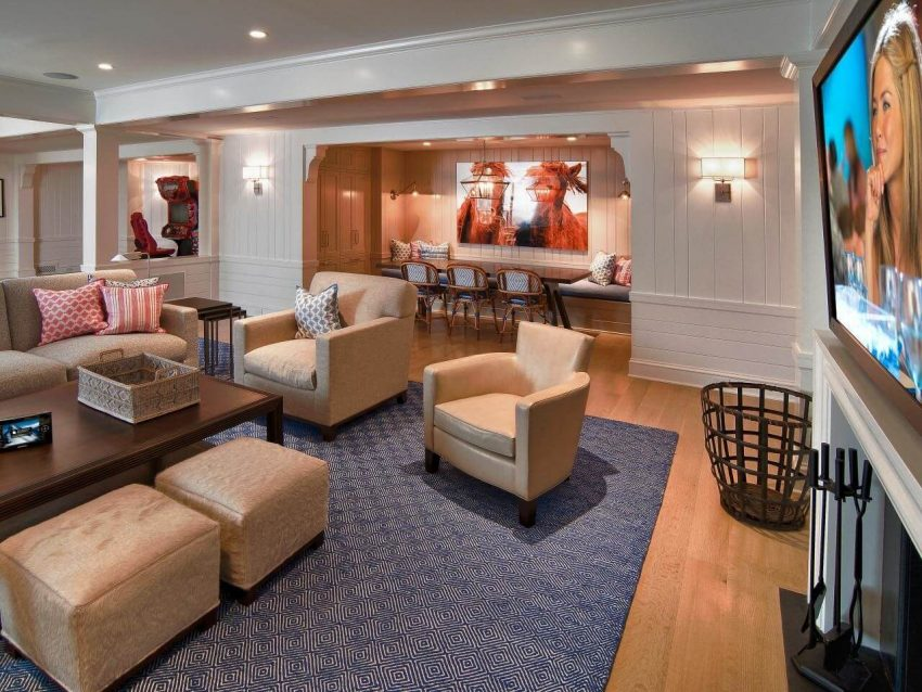 Basement Open Space Ideas for Family
