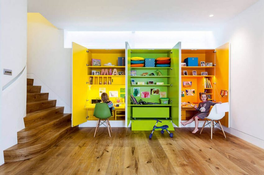 Basement Space Ideas with Kids Creative Station