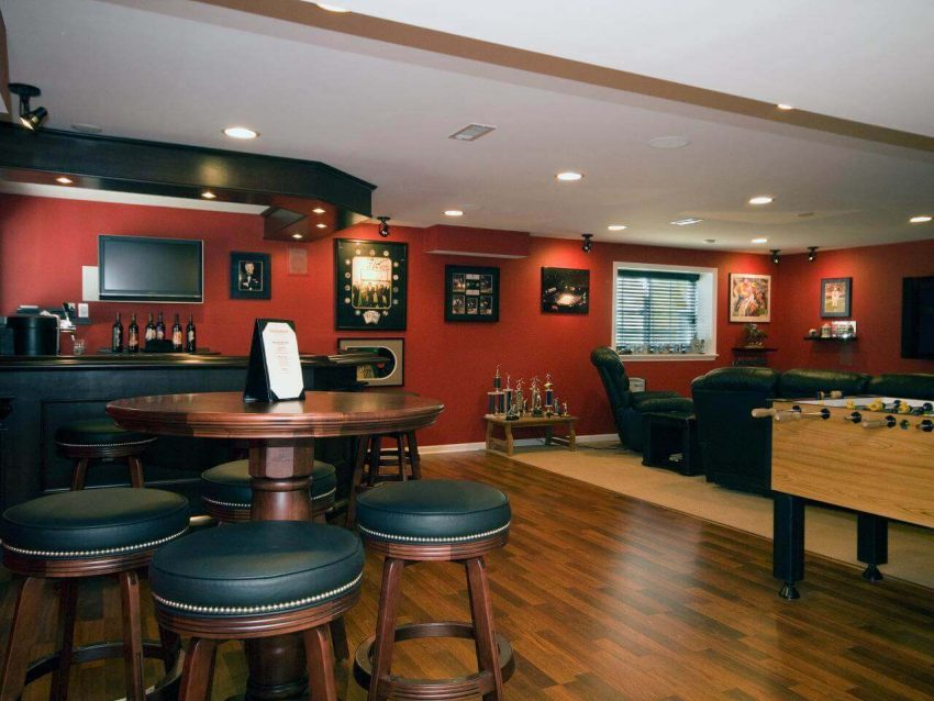 Billiard Lounge Basement Ideas