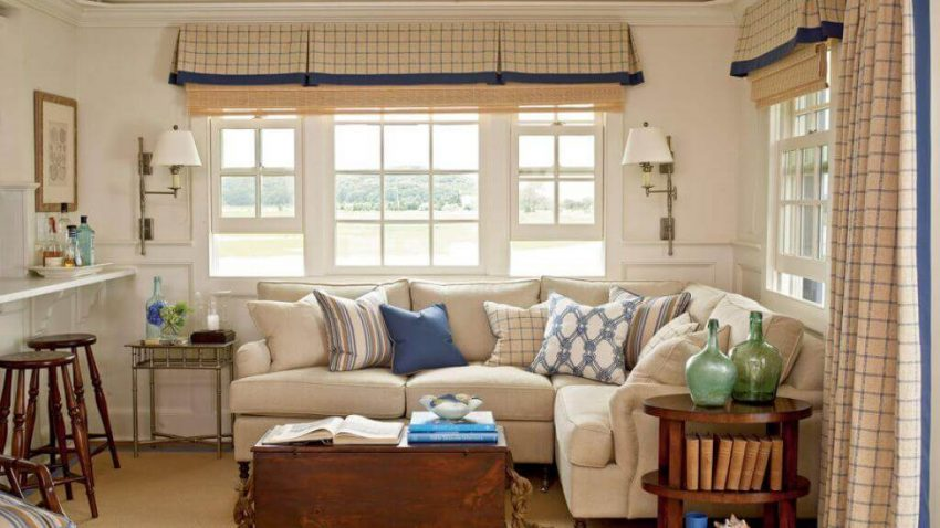 Curtains for Farmhouse Living Room Ideas - Harptimes.com