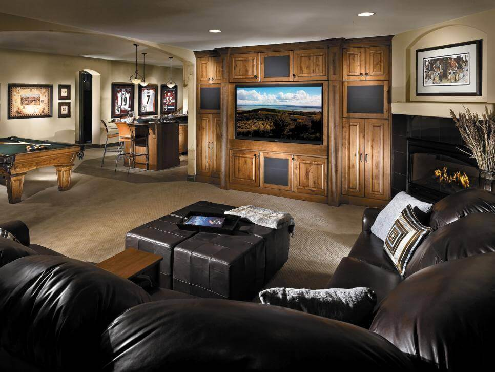 Elegant Basement Design Scheme Ideas