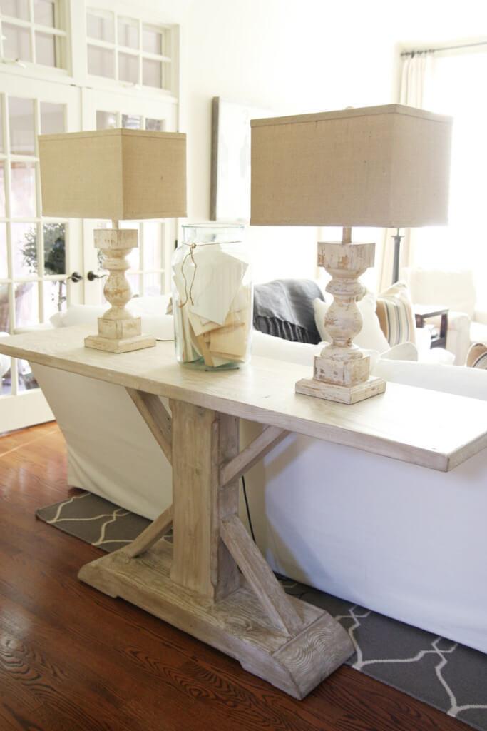 Estate Style Sofa Table Decor Ideas