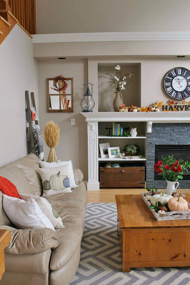 Fall Living Room Decor Ideas Clean and Scentsible