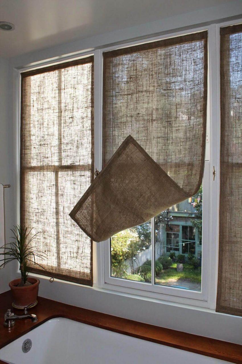 Farmhouse Living Room Ideas Burlap Curtains - Harptimes.com