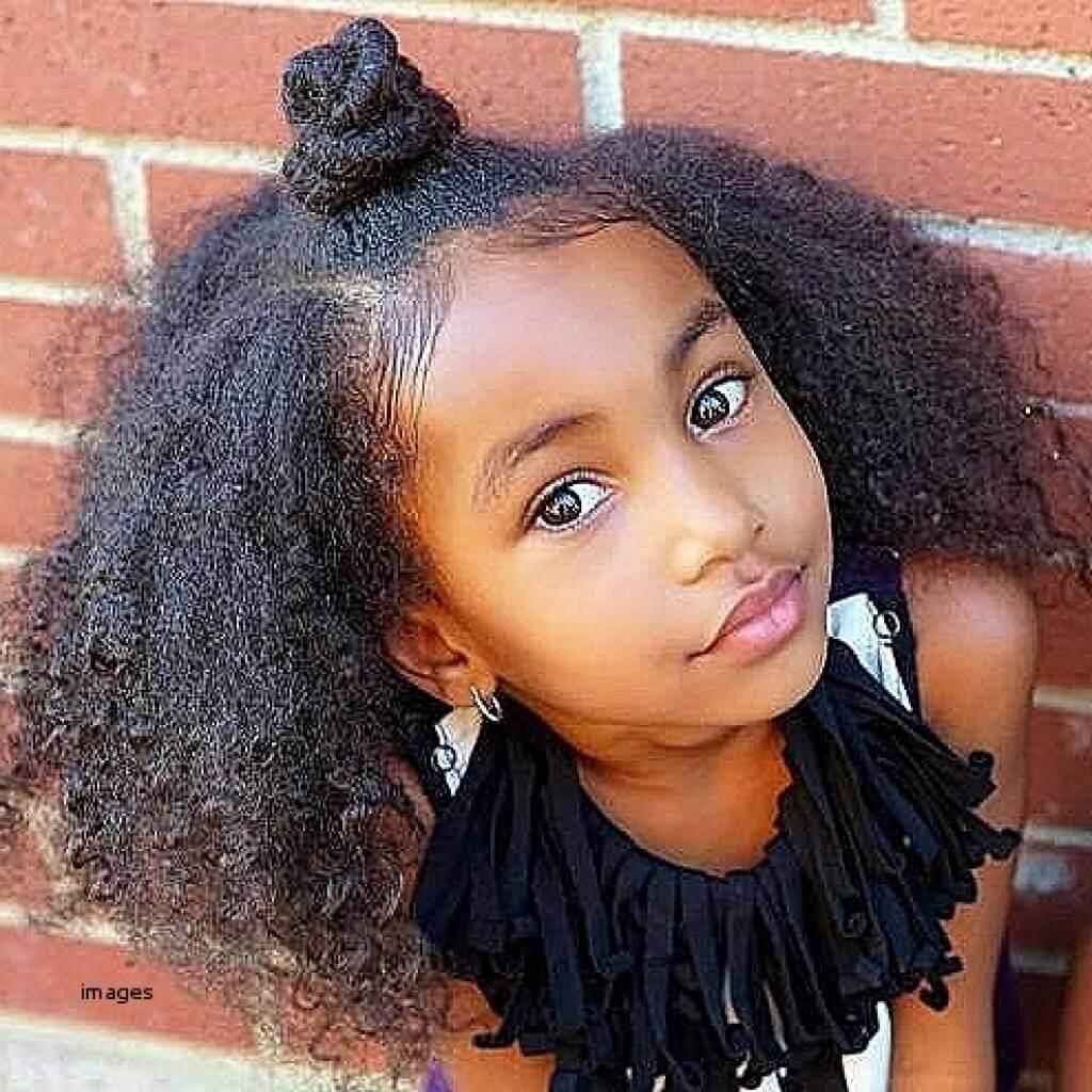 Half Bun Hairstyles for Little Black Girls