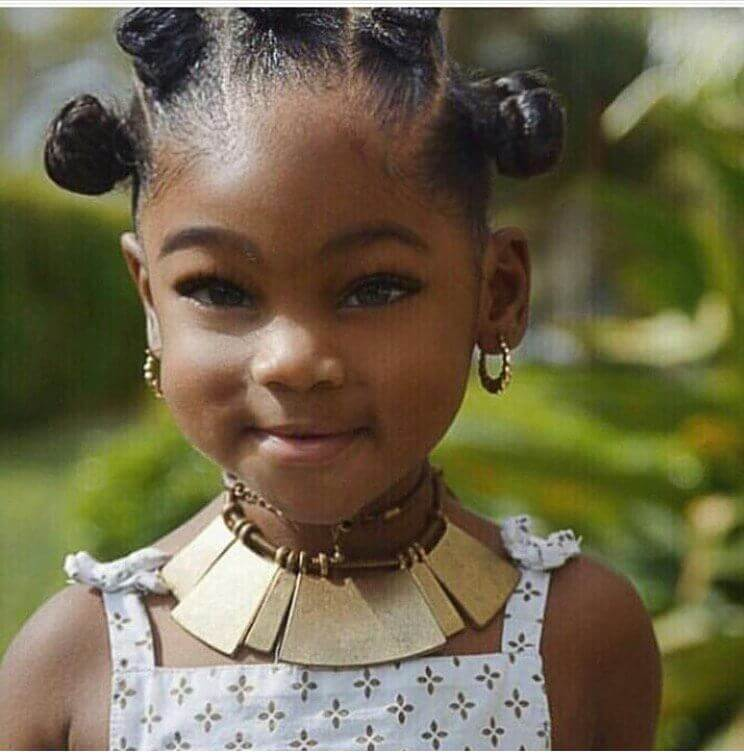 Little Black Girl Hairstyles Cute Tiny Buns